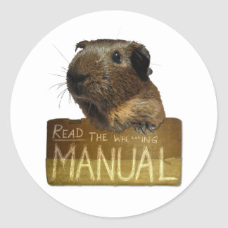 Guinea Pig Manual Round Sticker