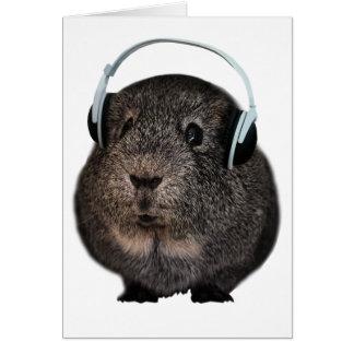 Guinea Pig Music Pet Card