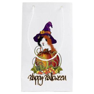 Guinea Pig 'n Pumpkin Halloween Small Gift Bag