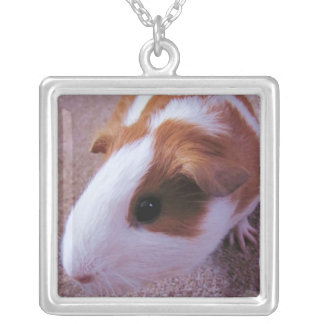 guinea pig neclace silver plated necklace
