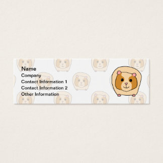 Guinea Pig on a pattern of paler Guinea Pigs. Mini Business Card