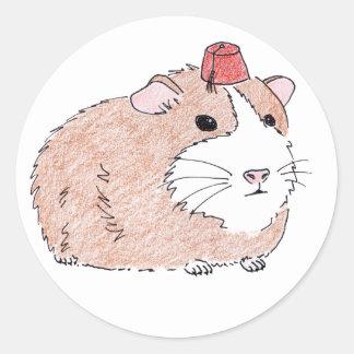 guinea pig round sticker