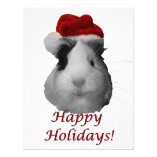 Guinea Pig Santa Holidays Letterhead
