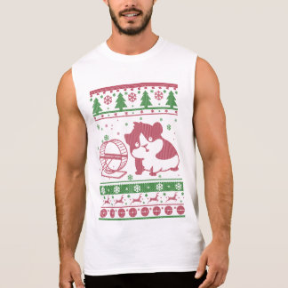 Guinea Pig Ugly Christmas Sleeveless Shirt