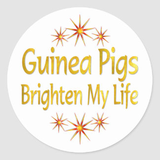 Guinea Pigs Brighten My Life Round Sticker