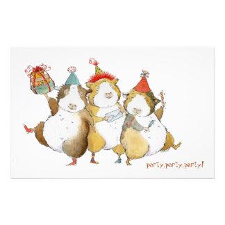 Guinea Pigs Celebrate Stationery