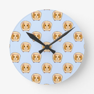 Guinea Pigs on Blue. Wall Clock