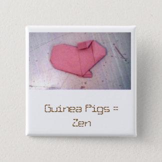 Guinea Pigs = Zen 2 Inch Square Button