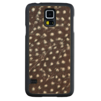 Guineafowl Spotted Feather Abstract Carved Maple Galaxy S5 Case