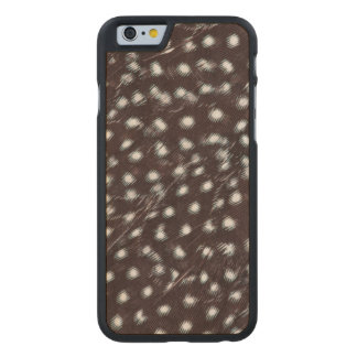 Guineafowl Spotted Feather Abstract Carved Maple iPhone 6 Case