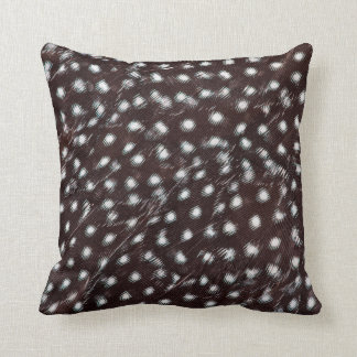 Guineafowl Spotted Feather Abstract Throw Pillow