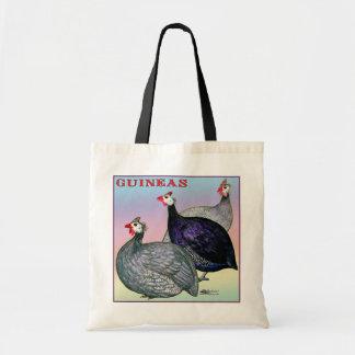 Guineas Three Fowl Tote Bag