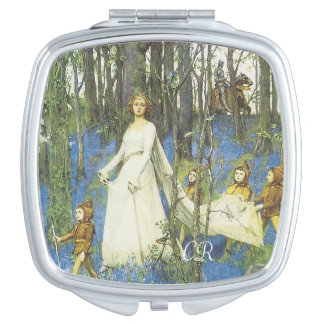Guinevere And Sir Lancelot With Your Initials Mirror For Makeup