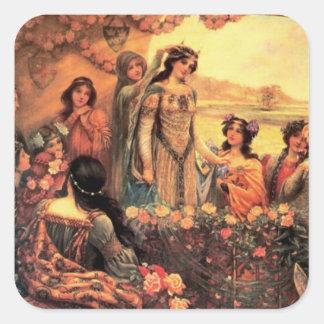 Guinevere in Camelot Square Sticker