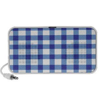 Guingan bleu haut-parleur ordinateur portable