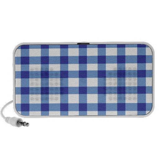 Guingan bleu haut-parleurs notebook