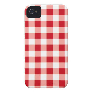 Guingan rouge coques iPhone 4 Case-Mate
