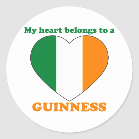 Guinness Classic Round Sticker