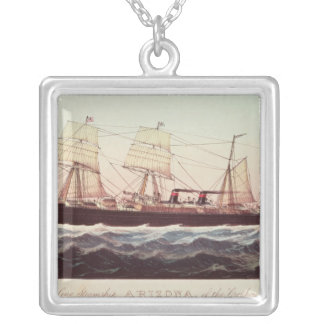 Guion Line Steamship Arizona Silver Plated Necklace