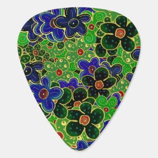 guirlande bleue et verte de fleur onglet de guitare