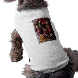 Guirlande colorée d'ornements de Noël de vacances Tee-shirt Pour Animal Domestique