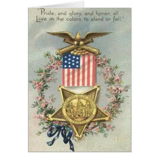 Guirlande d'Eagle de médaille de guerre civile des Carte