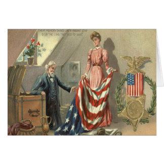 Guirlande d'Eagle de médaille de guerre civile des Carte De Vœux