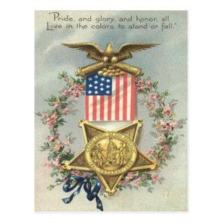 Guirlande d'Eagle de médaille de guerre civile des Cartes Postales