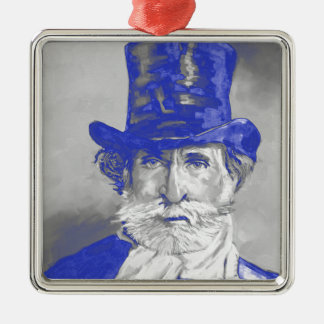Guiseppe Verdi Silver-Colored Square Ornament