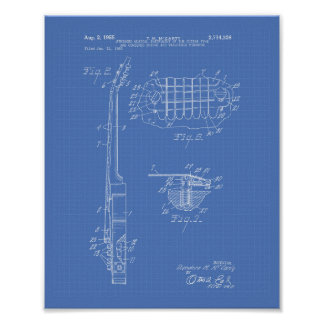 Guitar 1955 Patent Art Blueprint Poster