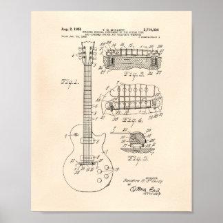 Guitar 1955 Patent Art - Old Peper Poster