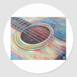 Guitar 2 round stickers