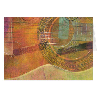 Guitar Abstract 3 Card