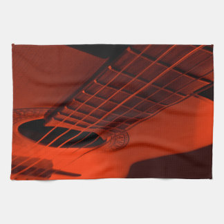 Guitar abstract. kitchen towels