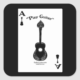 Guitar Ace Square Sticker