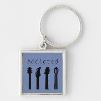 Guitar addicted keychain