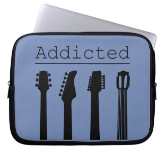 Guitar addicted laptop sleeve