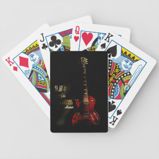 Guitar And Amp Playing Card