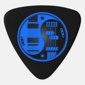 Guitar and Bass Yin Yang Blue and Black Pick