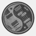 Guitar and Bass Yin Yang with Dark Texture