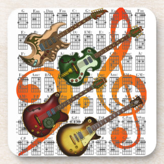 Guitar and Chord 07 Coaster