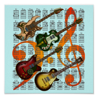 Guitar and Chord 07 Posters