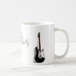 Guitar and Music Notes Mug
