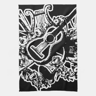 Guitar and Musical Instruments Kitchen Towel