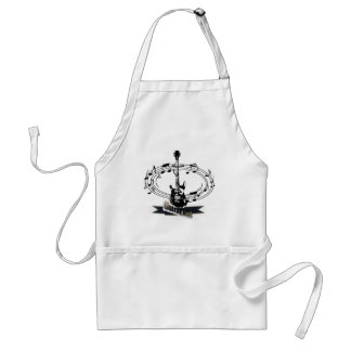 Guitar and Musical Notes Standard Apron
