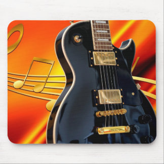 Guitar and Notes Mouse Pad