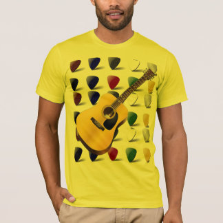 Guitar and picks tee shirt