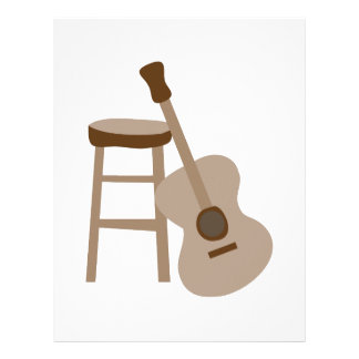 Guitar and Stool Letterhead