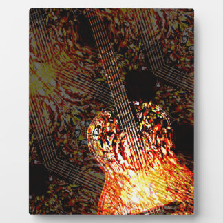 Guitar Art Plaque