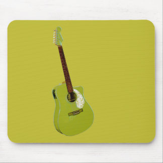 Guitar art print mouse pad